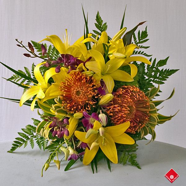 Bouquet de fleurs tropicales sign votre fleuriste le for Bouquet de fleurs quebec